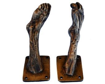 Bronze Foot Coat Hook 2