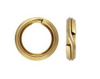 Gold Filled (21 gauge) - Split Rings (25 pcs.)  4.5mm, 5mm, 6mm, 7mm, 8mm