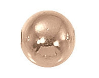 3mm - 14kt. Rose Gold Round Beads (heavy) - 10 pcs.