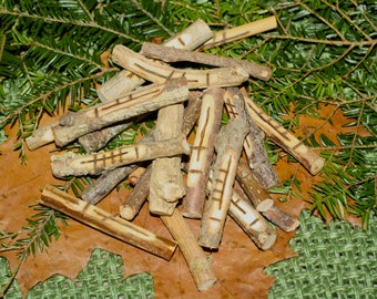 20 Corresponding Celtic Tree Ogham Staves - Pagan, Druid, Druidry, Witchcraft, Divination, Handmade