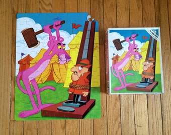 Vintage Pink Panther Puzzle - Cartoon Jigsaw Puzzle