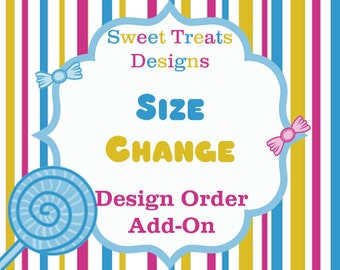 Size Change on Instant Download Printable Decor Order