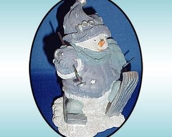 Snowman Skier Figurine 1990s