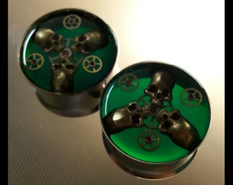"""3/4"""" (19mm) double flare steampunk plugs"""