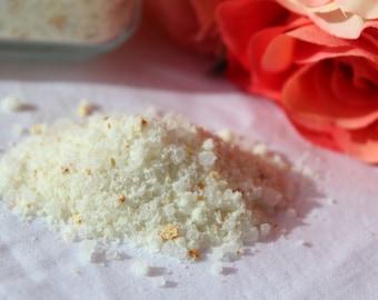 Organic Herbs, moisturizing bath salts, natural bath care, essential oil bath salts, vegetable glycerin bath salts, olive oil bath salts