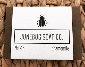 Chamomile Bar Soap - Natural Soap, Unscented Soap, Chamomile Soap, Sensitive Skin Soap, Vegan Soap, Handmade Soap, Bar Soap, Homemade Soap