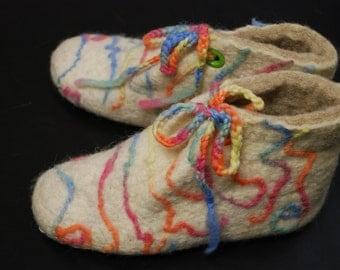 Sweety felted slippers. UK size 6