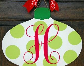 Monogrammed Christmas Door Hanger