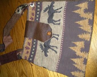 Moose print tote bag