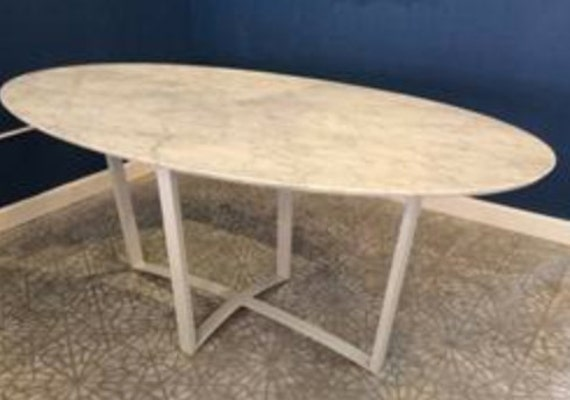 Marble top dining table carrera marble top by kobrafurniture for Table carrera