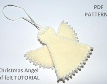 PDF Pattern/ Christmas Angel of felt Tutorial/ Christmas Angel-decorations for Home!