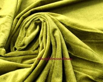 Olive Green Velvet Fabric Fat Quarter India