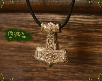 Necklace viking hammer pendant