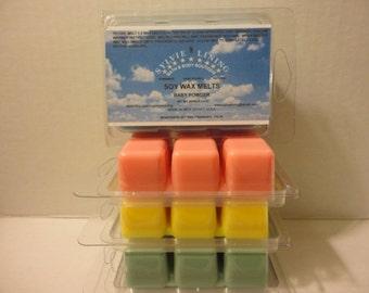 100 % SOY WAX MELTS / Non-Toxic Organic U.S.A. Soy Wax Melts. / Soy Tarts / Vegan wax tarts