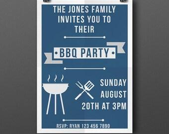 Printable BBQ Invitation