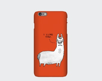 Llama iPhone Case, Llama Print for iPhone 5s 5c 6 6s 6 Plus 6s Plus 4s. Samsung Galaxy Case S3 S4 S5 S6 S6 Edge Designed by Gemma Correll.