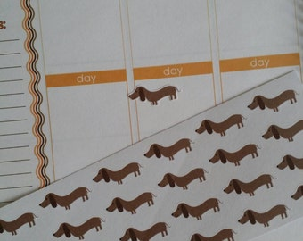 Skinny Dachshund Stickers! Dog Stickers! Perfect for your Erin Condren Life Planner, calendar, Paper Plum, Filofax!