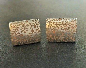 Severance Hall Cufflinks in Sterling Silver with Resin Inlay