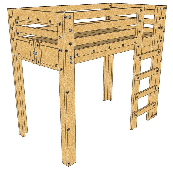Items Similar To Twin Loft Bed Plans On Etsy