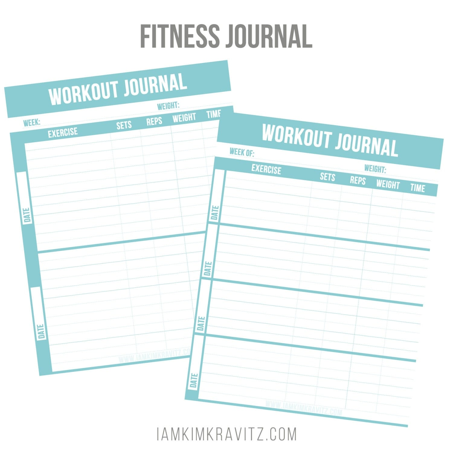 Zany image for printable fitness journal