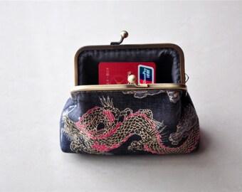 Chinese Dragon Print  Coin Purse