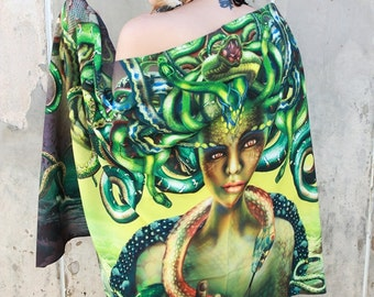 Medusa Snakes Monster Greek Mythology Hipster Scarf