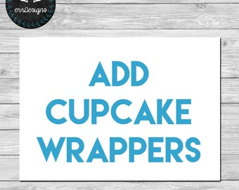 Add Cupcake Wrappers