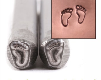 Baby Feet Metal Design Stamp / 2 Baby Feet Metal Stamps - Metal Stamping / Punch Tools for Metal Stamped DIY Jewelry Making Tools (DS283)