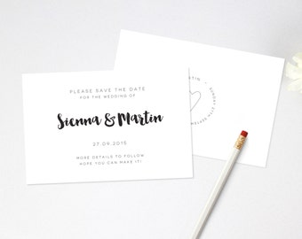 Wedding Save The Date - Printable