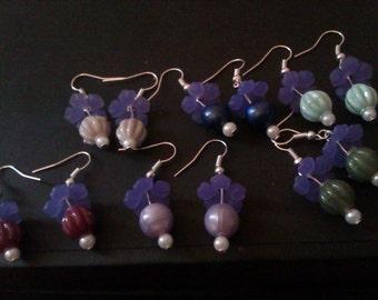 Plumb Fairy Dangle Earrings