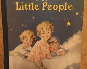 Vintage Children's Book, Bedtime for Little People