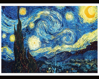 Van Gogh Starry Night - 11 x 14 Framed