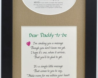 7x14 daddy to be ultrasound frame choose your mat and frame dad gift father sonogram picture