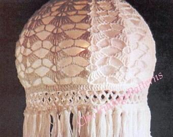 Crochet Lampshade ... 1970's PDF Crochet Pattern ... Unique Home Decor Item ... Instant Download