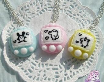 Tamagotchi necklace 90's fairy pop kei style