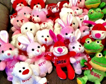 Monogramed Stuffed Animals.. Personalized for you