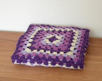 Handmade colorful crochet blanket