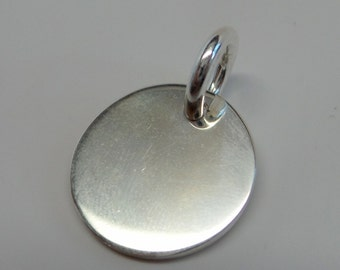 solid 925 sterling silver shiny tag charm, pendant with ring.Wholesale. P76