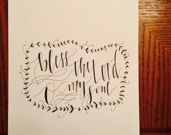 Calligraphy Print on Cardstock