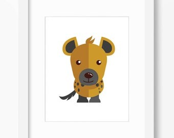 Hyena Print, Safari Art, Nursery Art, Nursery Print, Nursery Safari Print, Nursery Safari Art, Kids Safari Art, Kids Safari Print, Hyena Art