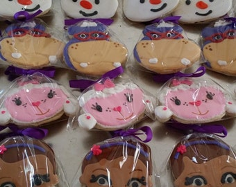 12 doc mcstuffins inspired cookies