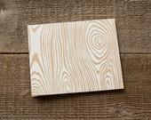 Screen Printed Card White Wood Grain