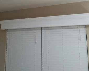 Cornice boxes for a sliding door or window. All custom sizes.