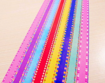Floral Mixed Origami Lucky Star Paper Strips Star Folding DIY - Pack of 160 Strips