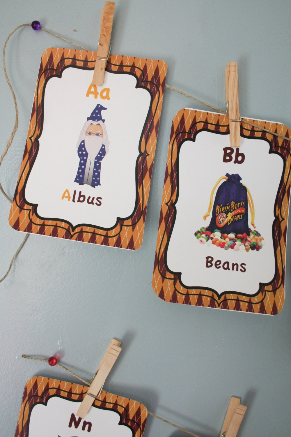 Harry potter abc cards harry potter theme nursery room by anewdae - Harry potter crib set ...