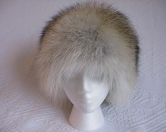 Russian / Pill Box (Long Hair) - Coyote Fur Hat