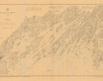 Casco Bay Maine Map 1896