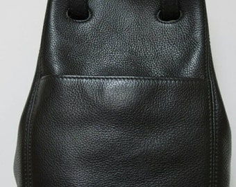 Coach Sonoma Black Pebbled Leather Bag Made in Italy