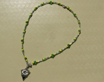 Greenbay Packers' charm necklace