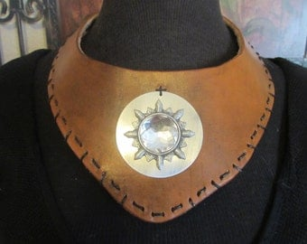Hand Stitched Leather Choker